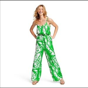 Lilly Pulitzer jumpsuit in palm print Boom Boom.